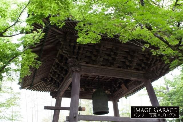 伊豆修善寺の修禅寺の鐘楼のフリー素材写真(無料)