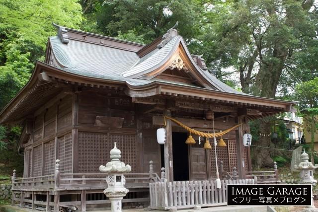 伊豆修善寺の弘法大師建立の日枝神社のフリー写真素材(無料)