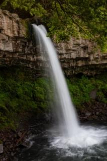 横から見た中伊豆の萬城の滝