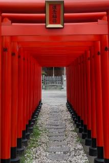 横浜市鶴見区・道念稲荷神社の鳥居