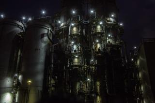 水江運河・東亜石油精製プラントの工場夜景