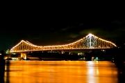 ブリスベン・ストーリーブリッジの夜景