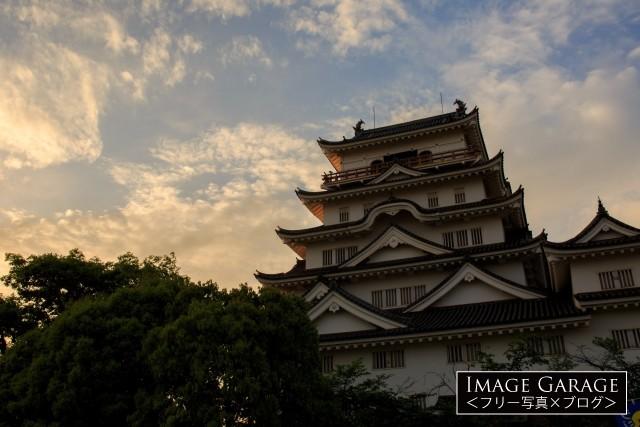 近世城郭・福山城のフリー写真素材(無料)