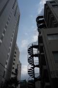 東京慈恵会医科大学 外来C棟の非常階段