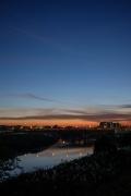 鶴見川(小机大橋付近)の夕焼け