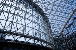 立体トラス構造の金沢もてなしドーム