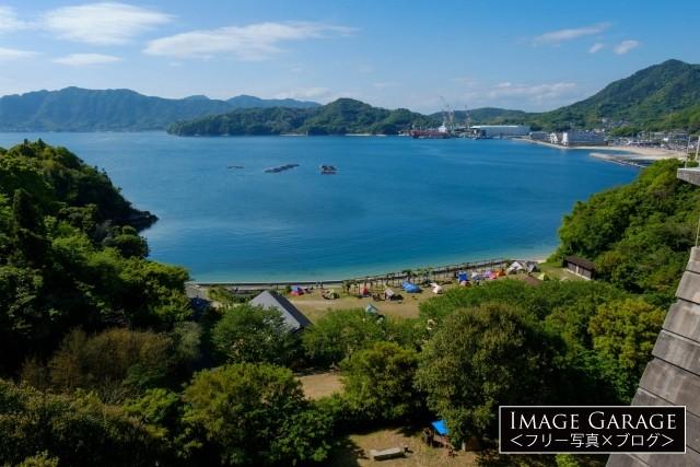 しまなみ海道・旅人の聖地・身近島キャンプ場のフリー写真素材
