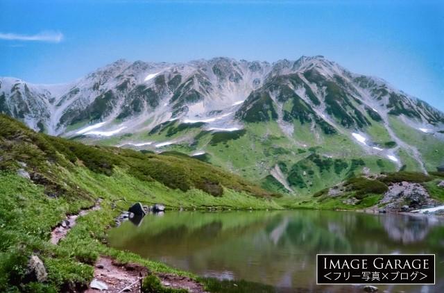 立山室堂のミドリガ池のフリー素材写真(無料)