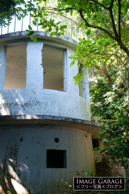 猿島の見張り台(展望台・観測所)のフリー素材写真(無料)