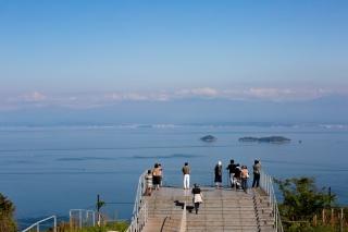 亀老山展望公園より燧灘と四国連山を望む