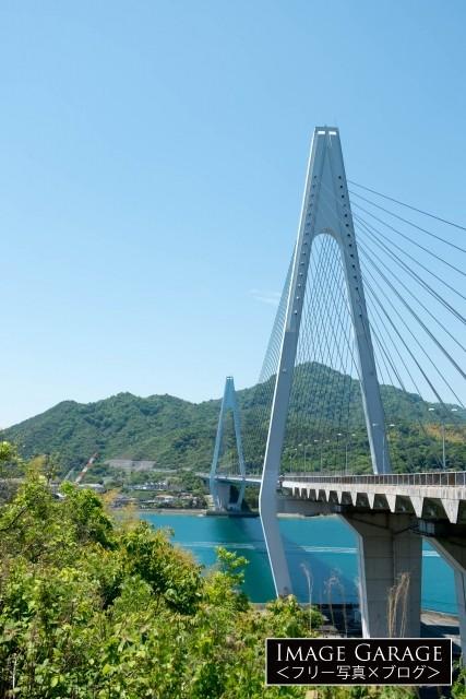 生口橋(しまなみ海道・斜張橋)のフリー素材写真(無料)