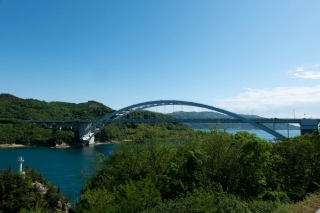 しまなみ海道のアーチ橋・大三島橋