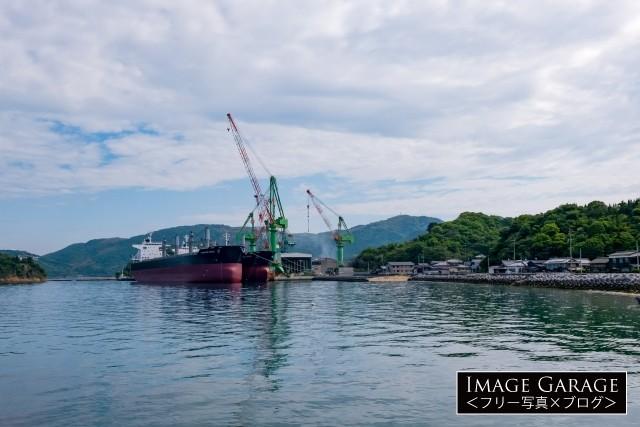 あいえす造船と28,000DWT型ばら積み運搬船のフリー素材写真(無料)