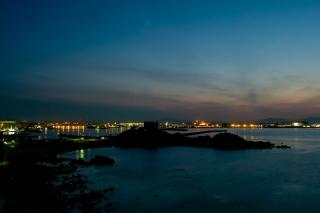 八戸市水産化学館マリエントから見た八戸の夜景