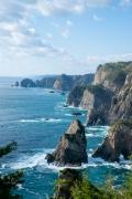 第2展望台から眺めた北山崎のダイナミックな断崖絶壁