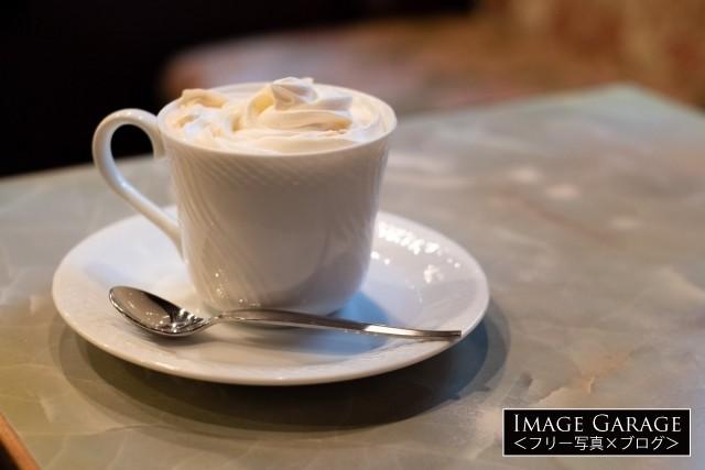 珈琲王城のウインナーコーヒーのフリー素材写真(無料)