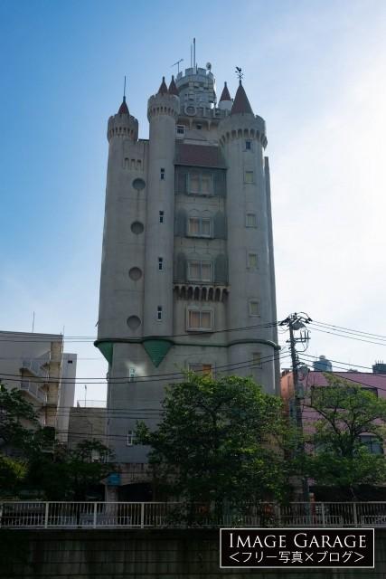 お城型ラブホテルの元祖・目黒エンペラーのフリー素材写真(無料)