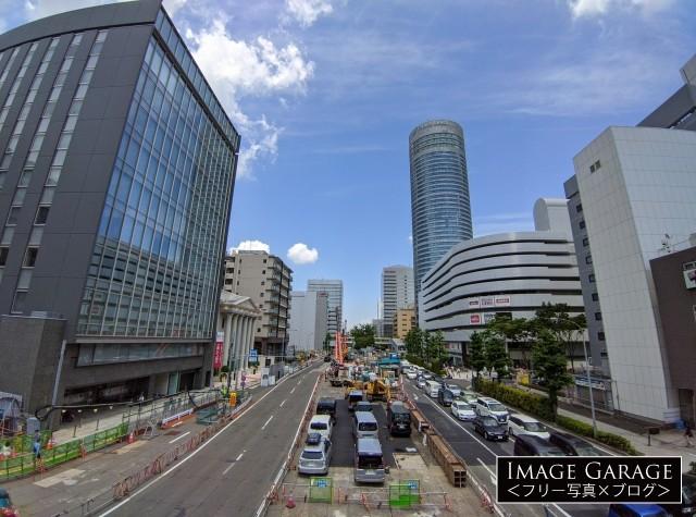 環状2号線・新横浜駅前の相鉄・東急直通線の工事のフリー素材写真(無料)