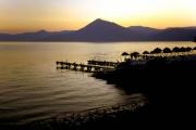 支笏湖の夕焼