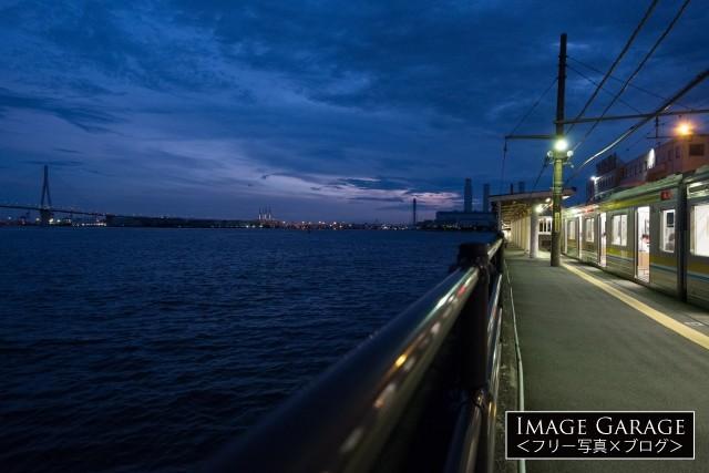 海に一番近い駅海芝浦駅のフリー写真素材(無料)