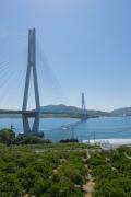 広島県尾道市側から見た多々羅大橋