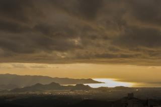 箱根から見た駿河湾の夕景