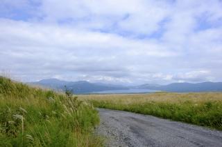 北富士演習上のススキ野原と山中湖を眺め