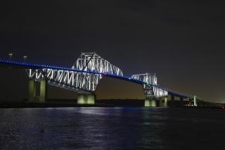若洲海浜公園から見た東京ゲートブリッジの夜景