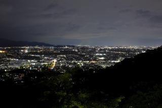 湘南平の夜景(伊勢原・厚木方面)