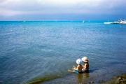 ターコイズブルーに輝いた屈斜路湖