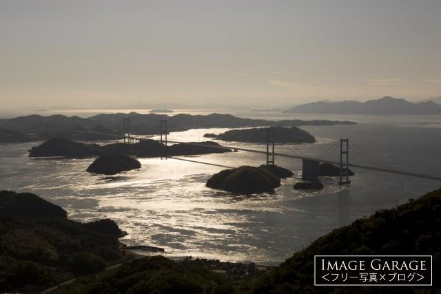 亀老山展望公園・パノラマ展望台からの風景のフリー素材写真(無料)