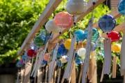 川越の蔵造りの町並みに設置されていた風鈴