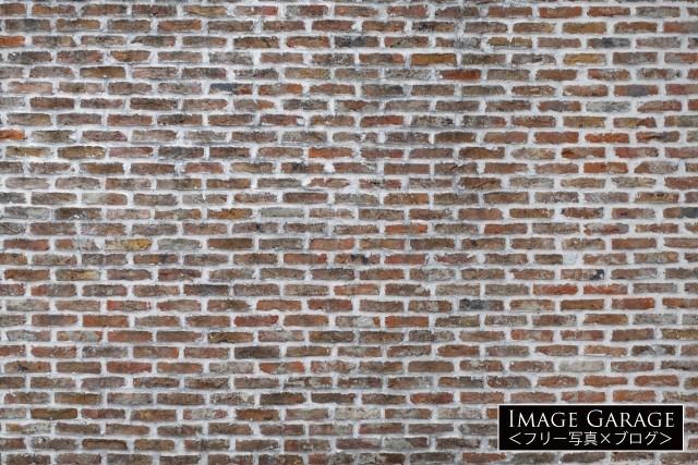 おしゃれな雰囲気のレンガの壁のフリー素材写真(無料)