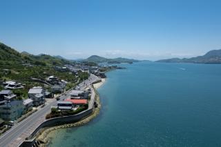 生口橋から見た生口水道・しまなみ海道