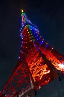 東京タワー・皇嗣殿下・立皇嗣奉祝ライトアップ