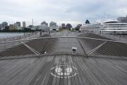 大桟橋の横浜三塔が同時に見えるスポット