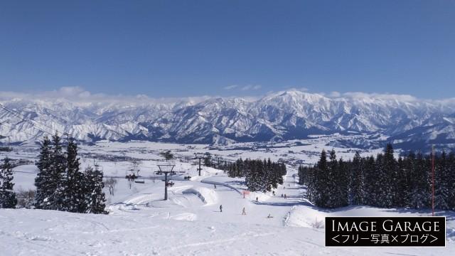 上越国際スキー場から眺める風景のフリー写真素材(無料)