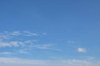 下半分に小さな雲がある青空(横)