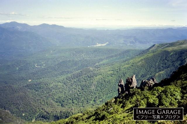 北海道・黒岳から眺めた風景のフリー写真素材(無料)