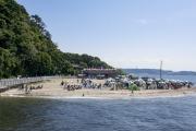 BBQが楽しめる猿島のビーチ