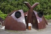 萬城の滝キャンプ場のカブトムシ型トイレ