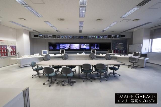 庄和排水機場のコントロールルームのフリー画像(無料写真素材)
