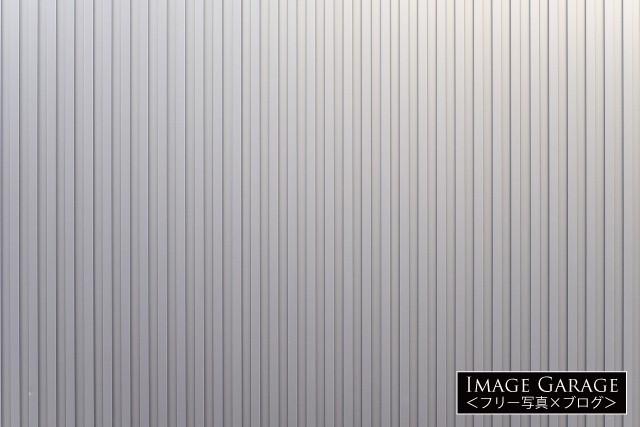 シルバーのガルバリウム鋼板のフリー写真素材(無料)