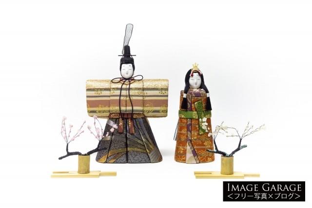 ひな人形・木目込みの立雛のフリー画像(無料写真素材)