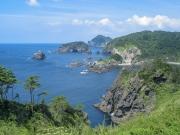奥石廊・あいあい岬から眺める海