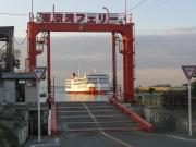 東京湾フェリー・金谷港の乗り場としらはま丸