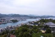 千光寺公園から眺めた尾道駅方面の風景