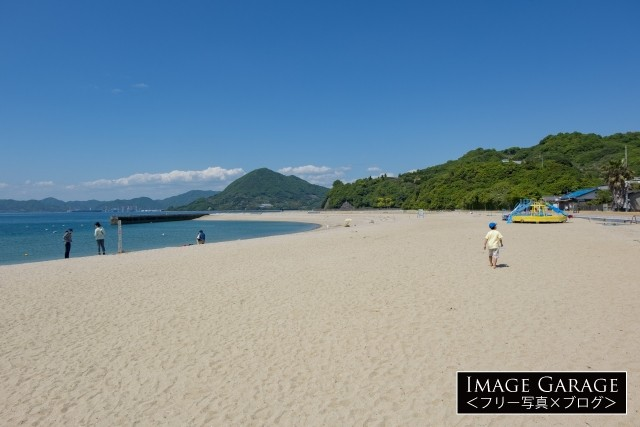 瀬戸田サンセットビーチのフリー画像(無料写真素材)