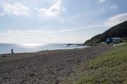 和田長浜海岸の北側を眺める