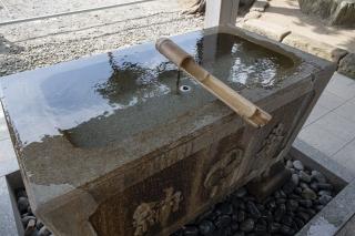 森戸神社のコロナ禍対応の手水舎
